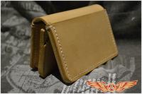 handmade Vintage purse thicker genuine cowhide leather retro men and women card holder wallet