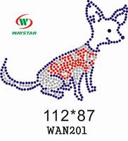 Free ship!30pc!Dog design strass hotfix rhinestone motif DIY motifs rhinestones WAN201