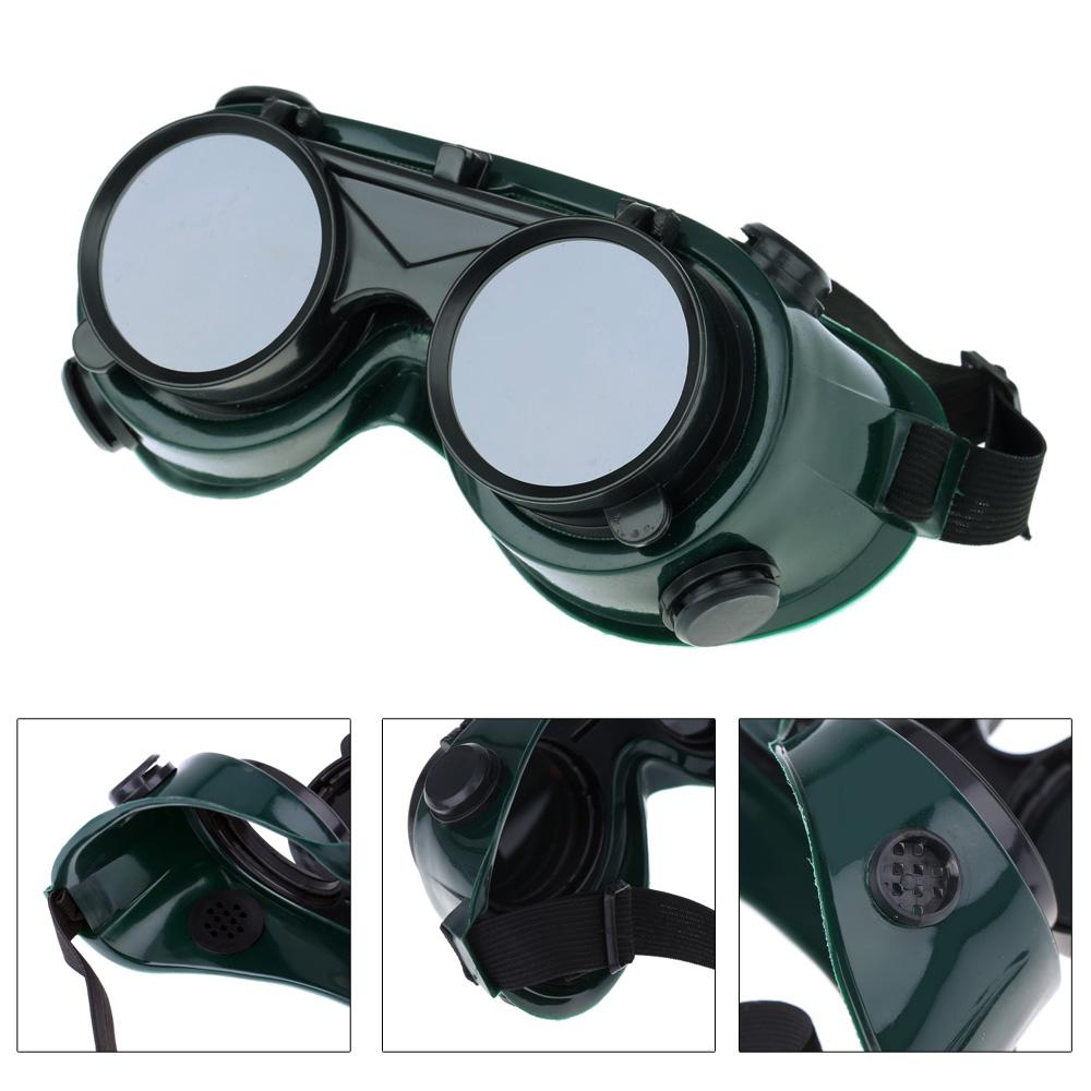 Сварочные припоя очки с откидной темнее резка шлифовка защитные стимпанк промышленные очки