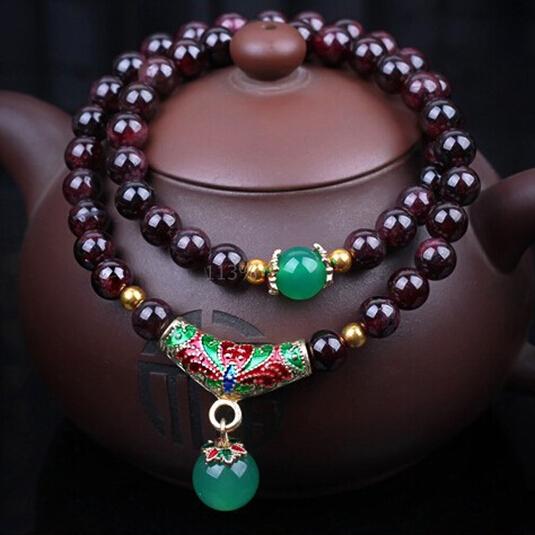 India Bracelet Natural Stone Pomegranate Barren Multi Layer Woman Type Circle More Bracelets Bangles Limited Edition(China (Mainland))
