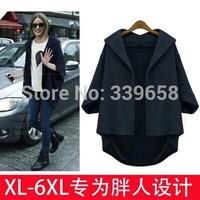 Large size women fat mm European leg of European style bat sleeve loose woolen coat sleeve woolen