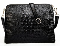 Women's Leather Handbags Designer Handbags Genuine Leather Crocodile High Quality Cowhide Pattern Women Messenger Bags BK210
