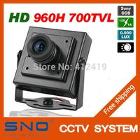 SNO High Resolution HD Sony 960H CCD Effio 700TVL Security Mini CCTV Camera 0.001LUX Hidden Video Surveillance Cam Free Shipping