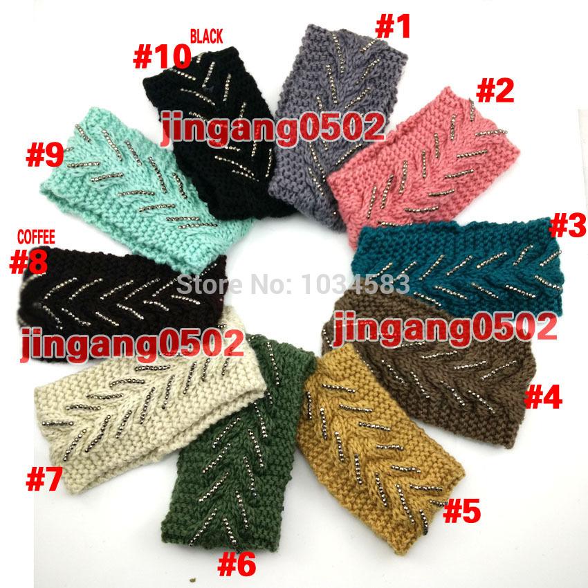 NEW fashion women girl knit headband twist crochet head wrap ear warmer hair band accessories wholesale crochet handmade(China (Mainland))