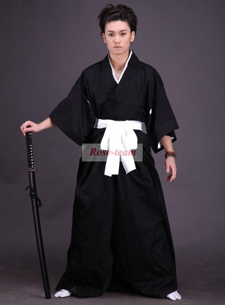 SunshineFun-Free Shipping Bleach Soul Reaper Kimono Uniform Anime Cosplay Costumes(China (Mainland))