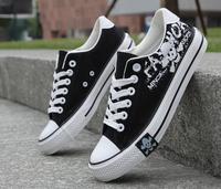 The new men's canvas shoes Korean tidal shoes student shoes breathable white Union Jack shoes