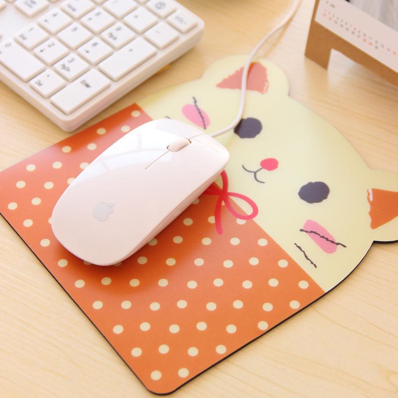 Korea Cute Cartoon Animal Plus Size Pot Mouse Pad Personality anime PVC Mouse Pads Computer accessories mousepad 19cm*18cm(China (Mainland))