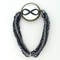 Europe and USA foreign trade infinity bracelet silicone infinite wireless gem bracelet spot restoring ancient ways custom logo
