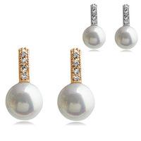 Pearl earring - love you a million years earrings brinco perola fine jewelry earrings rings bear jewelry pearl earrings