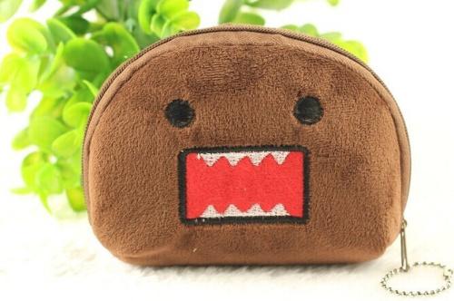Japan Domo KUN Half-Round 11CM Pocket Coin Purse Wallet Pouch Case BAG ; Women Lady Bags Pouch Makeup Case Holder BAG Handbag(China (Mainland))