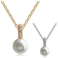 Pearl necklace - love you a million years femininos corrente de prata violetta big necklace flower pendant bijuterias
