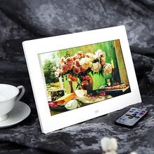 Da 10 pollici hd TFT-LCD 1024*600 digitale foto cornice sveglia mp3 mp4 giocatore di film con telecomando bianco/nero(China (Mainland))