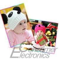 1pc 2015 New lovely animal panda baby hats and caps kids boy girl crochet beanie hats winter cap for children to keep warm