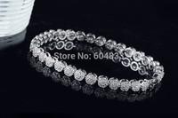 New arrival smaller circle exquisite inlaied zircon bracelet & bangle link zirconia wedding jewelry for women