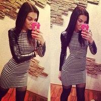 Fashion New Women Casual Dress Slim Bodycon Dress Long-sleeved Elegant Dresses Size S,M,L,XL