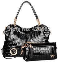 New 2015 Fashion Desigual Brand Leather Women Handbag Shoulder Bags Crocodile Women Messenger Bags Tote Bolsas Travel Bags