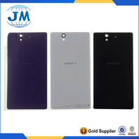 Black White Purple Original new back door battery glass cover housing for Sony xperia Z L36H L36 C6603 C6602 LT36 +Free Shipping