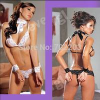 Free shipping Sexy Women Open Top Bra Lingerie Babydoll Underwear Teddies Chain Nightdress