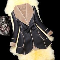 free shipping EMS  High quality yodrnsn 2014 fur female medium-long wool fur one piece fur coat