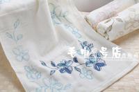 100% pure cotton facecloth soft thick printing flower face towel 34*74cm 105g  facetowel Senior cut pile 3pcs/lot