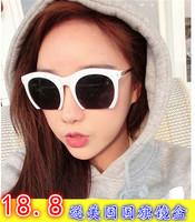 Box fashion oversized face-lift sun glasses arrow big circle vintage sunglasses