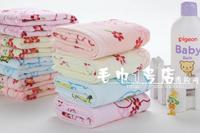 100% pure cotton facecloth soft cartton children face towel 26*48cm 50g lovely baby facetowel cut pile 5pcs/lot