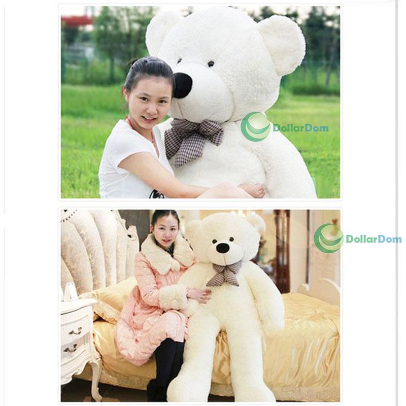 ChicQueen 70CM Giant Big Cute Plush Stuffed Teddy Bear Huge Soft 100% Cotton Toy Best Gift(China (Mainland))