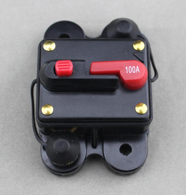 100 Amp 12 V volts DC de baixa tensão banhado a ouro Circuit Breaker para Car Audio amplificador sistema de recuperação automática(China (Mainland))
