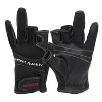 Tsurinoya Black Anti-skid  Fingerless Fishing Gloves Waterproof  XL Size