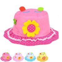 2015 New Lovely Sun Flowers Visor Children's Bucket Hats Spring and Summer Visor Sun Hat for Kids