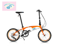 Ford 18-inch 9-speed bicycle variable speed ultralight aluminum alloy frame folded bicycle Russian free shipping