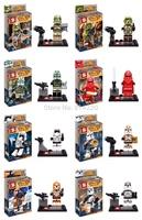 8pcs SY265 superhero star wars minifigures phoneSpace game war plastic buiding block bricks minifigures action toy for child