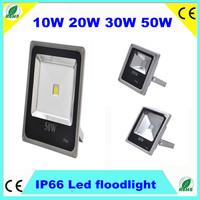 Waterproof IP66 Outdoor 10W 20W 30W 50W LED Flood Light Gery Floodlight 120Degree 85-265V RGB 3000K/6000K CE SAA DHL Fedex free