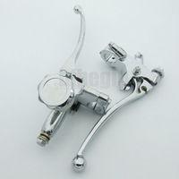 """7/8"""" 22mm Chrome Master Brake Cylinder Clutch Lever For Harley Honda Kawasaki Yamaha suzuki"""