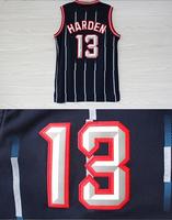 Houston 13 James Harden Jersey, Cheap Basketball Jersey James Harden REV 30, Vintage Throwback Embroidery Logos, Free Shipping