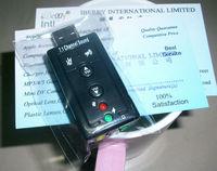 USB Sound Card Adapter PC External Audio 3D hifi Speaker 7.1 channel Virtual Surround 3.5mm Jack Plug