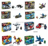8pcs/lot Super Heroes Avengers DIY building block Batman Vs Captain Ironman Green Arrow minifigure with Submarine toys