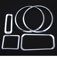 5pcs/set for Jeep Wrangler (Ceiling speaker rings / windows key ring light / (4WD)) Handbrake bright circle