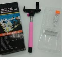 Monopod Selfie Stick Telescopic & Bluetooth Wireless Remote Mobile Phone holder,100pcs