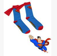 5 Pairs/lot Super Man Bat Man Cool Cloak Long Sock Cotton Meias Men's Women's and Children's Socks