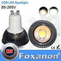 Foxanon Brand GU10 Led Spotlight COB 85-265V 220V 110V Aluminum Body GU 10 5W Spot Light Led Bulb Downlight Lighting 1PCS/LOT