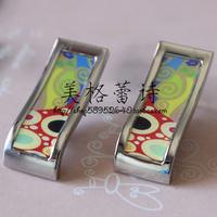 [5 ] FREY enamel special discount Klimt hope elongated ear silver buckle / earrings