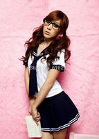 New fashion Sailor suit preppy style set school wear costume Summer school uniform student uniform free shipping