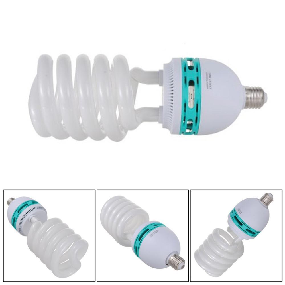 New Tricolor 150W 5500K E27 Energy Saving CFL Daylight Photo Video Studio Lamp Bulb 220V for