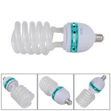 New Tricolor 150W 5500K E27 Energy Saving CFL Daylight Photo Video Studio Lamp Bulb 220V  for Digital Camera Photography