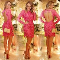 New 2015 spring and Summer dress  women sexy rose red Dress party Vestidos Femininos club vestido de festa Casual