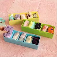 Candy Color Storage Drawer Box Multi Function Socks Underwear Storage Box 5 Cells Simple Desktop Storage Box
