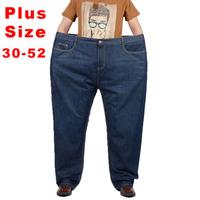 New 2015 Plus Size Men Jeans Fashion Classic Trousers Denim Designer Calca Jeans Masculina For Men Big size 38 40 42 46 48 50 52