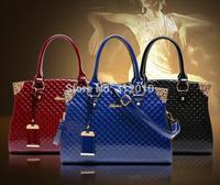 2015 new fashionable female bag patent leather embossing euramerican inclined shoulder bag handbag women's shoulder bag