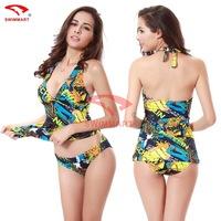 Split swimsuits 2015 explosion models sexy swimwear fashion printing slim slimming swimsuits bikini biquini